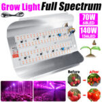 New              70W 140W Full Spectrum COB LED Grow Light Veg Plant Flower Flood Lamp for Indoor Use AC220V