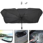 New              Car Sunscreen Sun Shade for Windshield Folding UV Rays Sun Visor Protector Umbrella