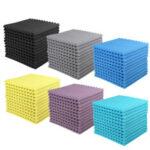 New              12Pcs Wedge Acoustic Foam Panels 25mm Sound Proofing Foam Room Studio Tile Treatments