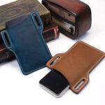 New              Men Genuine Leather 6 inch Phone Bag EDC Bag Storage Bag Tactical Bag Waist Pack