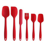 New              6PCS Non-Stick Rubber Spatula Set Heat-Resistant Spatula Kitchen Utensils Set Tools Kit