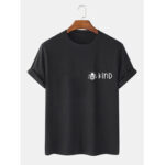 New              Cotton Simple Bee & Letter Print Casual Short Sleeve T-Shirts