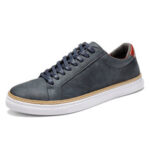 New              Menico Men Classic Skate Shoes Comfy Soft Sole Lace Up Leather Trainers