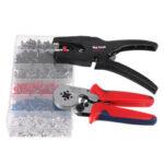 New              Raitool Professional Crimper Plier Wire Cutter Stripper 1500Pcs Electrical Crimp Terminals