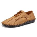New              Menico Men Hand Stitching Lightweight Soft Casual Shoes