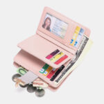 New              Women Genuine Leather RFID Anti Theft Multi-slots Bifold Wallet Purse Clutches Bag
