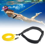 New              3/4x6x9m Swimming Resistance Bands Swim Training Belts Harness Static Swimming Exercise