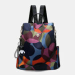 New              Women Printed Nylon Anti-theft Backpack Shoulder Bag