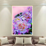 New              DIY 5D Diamond Painting Flower Embroidery Cross Crafts Stitch Home Wall Decorations