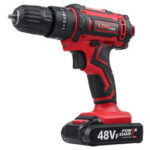 New              48VF Cordless Electric Impact Drill Rechargeable Drill Screwdriver W/ 1 or 2 Li-ion Battery