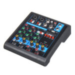 New              Mini 4 Channels USB Portable Audio Mixer bluetooth Live Studio Audio Mixing Console