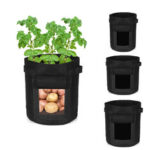 New              4/7/10 Gallon Potato Planting Bag Pot Planter Vegetable Container Garden Grow Bag Seedling Pot