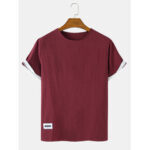 New              Solid Color Short Sleeve Cotton & Linen Breathable T-Shirts