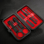 New              7Pcs/ Set Professional Manicure Tools Stainless Steel Matte Nail Scissors Nail Clipper Tool Set
