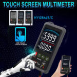 New              Touch LCD Digital Multimeter RMS Auto Tester Transistor AC DC Voltmeter Ohmmeter