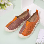 New              LOSTISY Women Colorblock Comfy Hollow Breathable Casual Flats