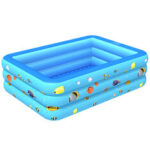 New              Inflatable Swimming Pool Yard Garden Family Kids Play Backyard Blow Up Paddling Pool Bathing Tub Outdoor