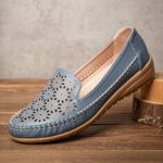 New              LOSTISY Women Floewrs Hollow Comfy Non Slip Casual Flat Loafers
