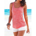 New              Casual Sports Round Neck Sleeveless Hollow Design Beach Wild Tank Top