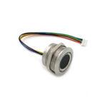 New              R503 Capacitive Fingerprint Module Sensor Scanner Circular Round Two-Color Ring Indicator LED Control DC3.3V MX1.0-6pin