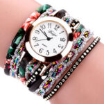 New              DUOYA Retro Style Women Bracelet Watch Rhinestone Quartz Watch