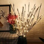 New              29 Inch 20LED Willow Branch Lamp Floral Lights Tree Party Garden Decor