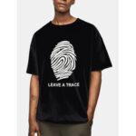 New              Mens Design Fingerprint Pattern Slogan Print Cotton Short Sleeve Casual T-Shirts