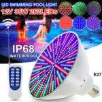 New              35W E27 PAR56 RGB LED Bulb 12V Underwater Light Swimming Pool Light & Spa Light W/ Remote