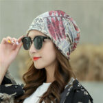 New              Leaf Retro Beanie Print Chemotherapy Caps