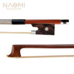 New              NAOMI 4/4 Violin Bow Rosewood Bowstick Ebony Frog Sheep Leather Wrap with Mongolia Horse Hair Strings Accessories