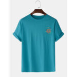 New              6 Colors Funny Graffiti Print Cotton Breathable Short Sleeve T-Shirts