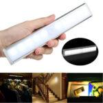 New              10 LED Motion Sensor Closet Light Wireless Night Cabinet Battery Powered Indoor
