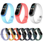 New              Bakeey Pure Color Transparent Watch Band Watch Strap Replacement for Xiaomi Miband 5 Mi Band 5
