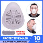New              Respirator Gas Mask Reusable Air Spray Protection Glasses Dust Mask Face Mask