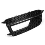 New              Front Left Side Lower Bumper Fog Light Grille Cover For Audi A4 B8 S4 S-line