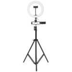 New              26cm LED Ring Light for Youtube Live Stream Tiktok Broadcast 10 Brightness Dimmable 2800-6500K Makeup Fill Light with Tripod Stand Dual Phone Clip