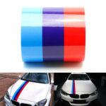 New              60Inch M Color Stripes Rally Side Hood Racing Motorsport Decal Sticker for BMW