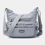New              Women Waterproof Multi-pocket Solid Casual Crossbody Bag Shoulder Bag