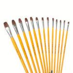 New              Yellow Pole Gouache Paint Brush Set Art Watercolor Paint Brushes Set Pen Acrylic Painting Student Art Suit