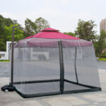New              Outdoor Umbrella Mosquito Net For Home Bed Roman Umbrella Cover Safe Mesh Netting Mosquito Insect Net 3x3x2.3m