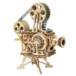 New              Robotime Retro Projector Three-dimensional Puzzle Wooden Educational Toys Decompression Assembled Robot Model Indoor Toys