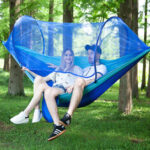 New              Double Person Hammock with Mosquito Net 70D Nylon Swing Bed Outdoor Camping Travel
