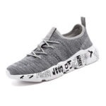 New              Men Knitted Fabric LightWeight Breathable Sports Casual Sneakers
