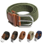 New              115cm Canvas Elastic Stretch Tactical Belt Men Women Pin Buckle Waist Belt Hunting Fishing