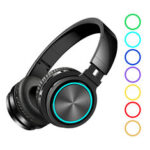 New              BlitzWolf® AIRAUX AA-ER1 bluetooth 5.0 Graphene Headphone Foldable RGB Earphones Over Ear Stereo Wireless Headset Built-in Mic For Phones Computer