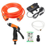 New              12V 100W High Pressure Car Electric Washer Sprayer Dual Pump Car Washing Tool Clean Kit