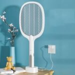 New              2-in-1 Electric Mosquito Swatter USB Rechargeable Handheld Killing Mosquito Insect Fly Zapper