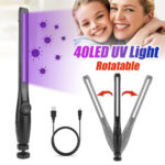 New              USB 40LED Portable Ultraviolet Sterilizer Light Handheld UV Disinfection Lamp