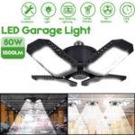 New              E27/E26 80W LED Garage Light Bulb Deformable Ceiling Fixture Shop Workshop Lamp
