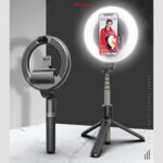 New              Bakeey L07 bluetooth Selfie Ring Fill Light Wireless Control Dimmable Camera Phone Ring Lamp With Tripod Stand For Makeup Video Vlog Live